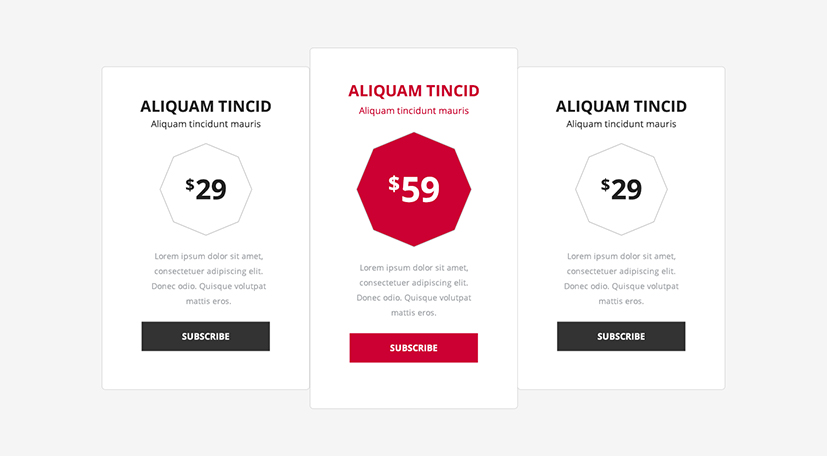Divi theme page layout pack unicorn bundle - Divi pricing table ...